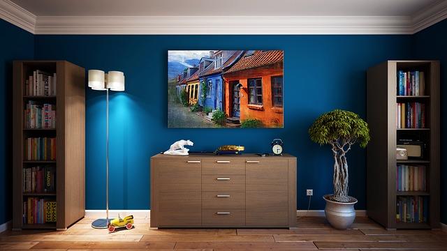 modré stěny